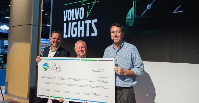 Volvo receives check
