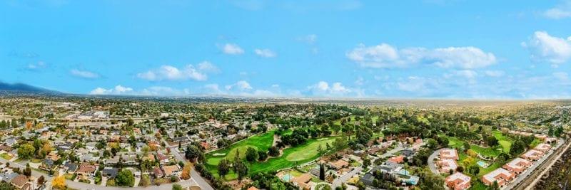 Aerial of Rancho Cucamonga, California