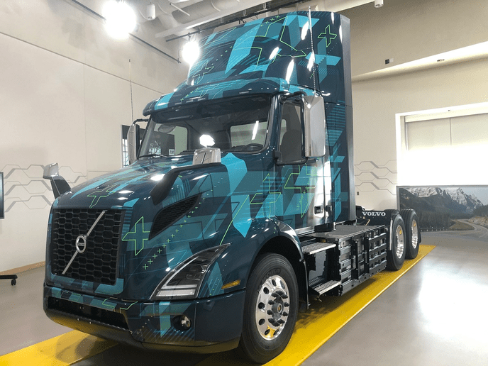 The new Volvo electric VNR