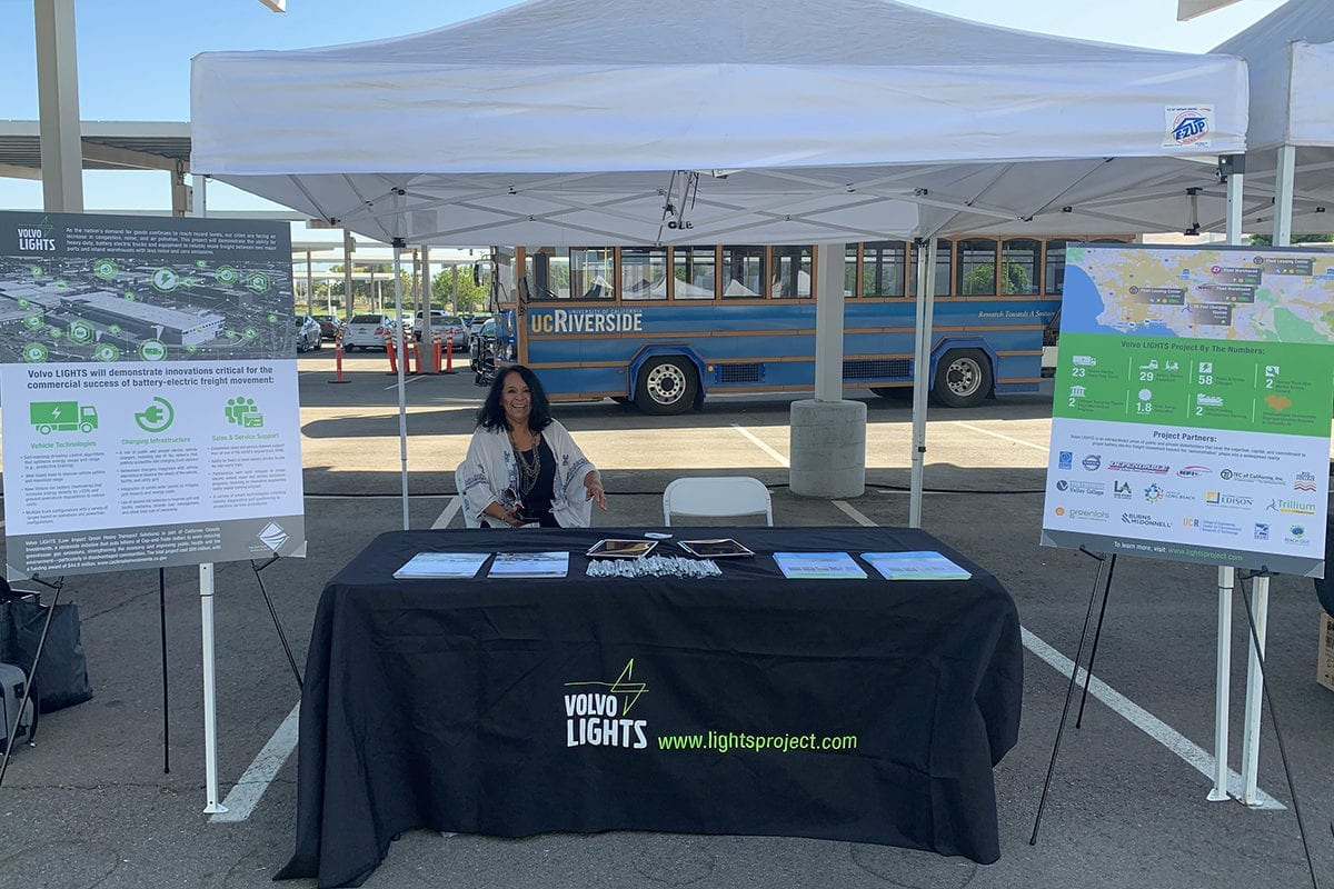 Volvo LIGHTS partner, UC Riverside, hosted a Green Summit on October 5, 2019 to showcase projects driving sustainability in the community. Reach Out represented the Volvo LIGHTS project with an information table.
